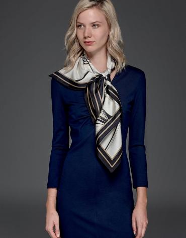 Robe stretch bleu marine