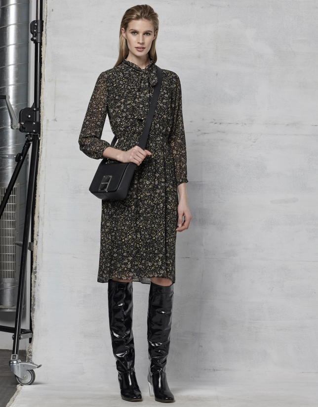 Print shirtwaist dress
