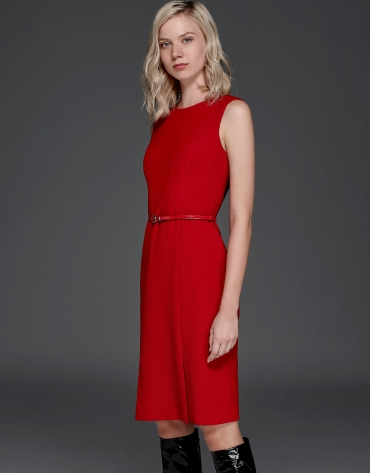 Red flocked dress