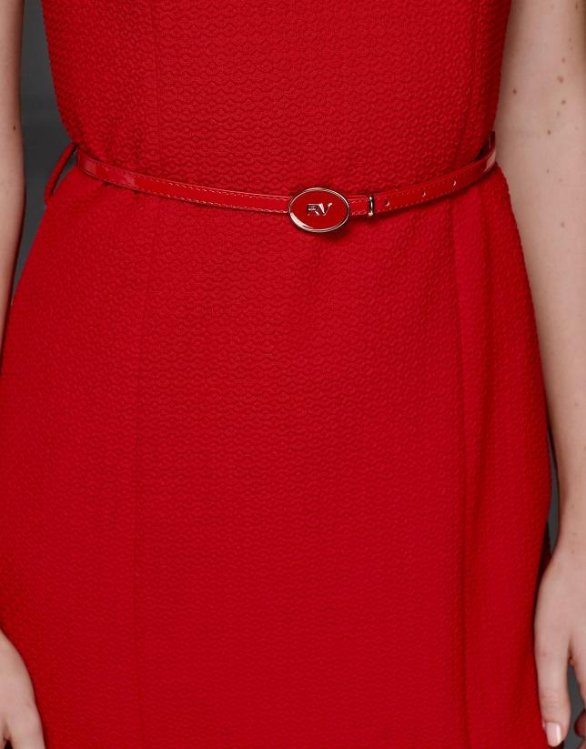 Robe floquée rouge