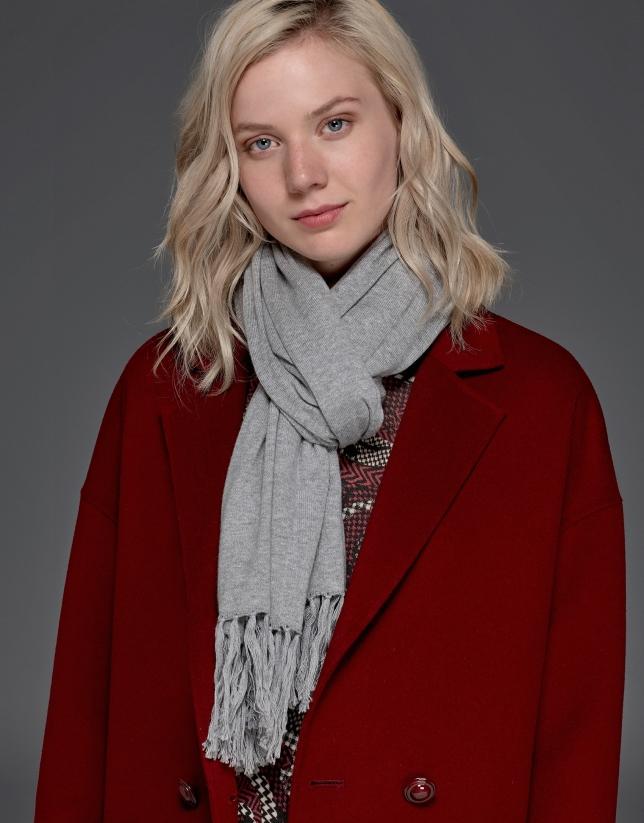 Maroon, double-faced long coat