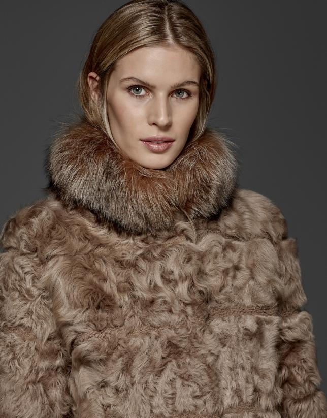 Tan lambskin coat
