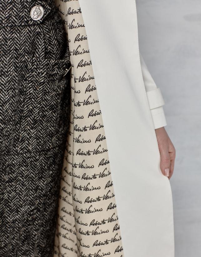 Gabardine longue blanche