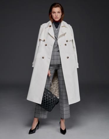 Long white raincoat