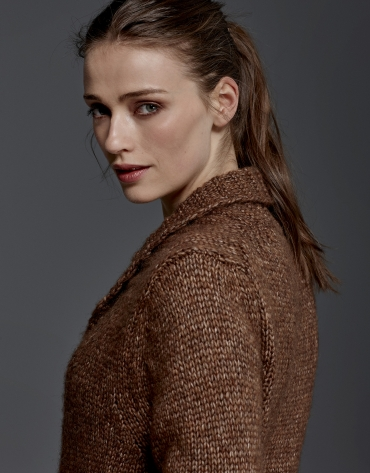Brown jacket with belt