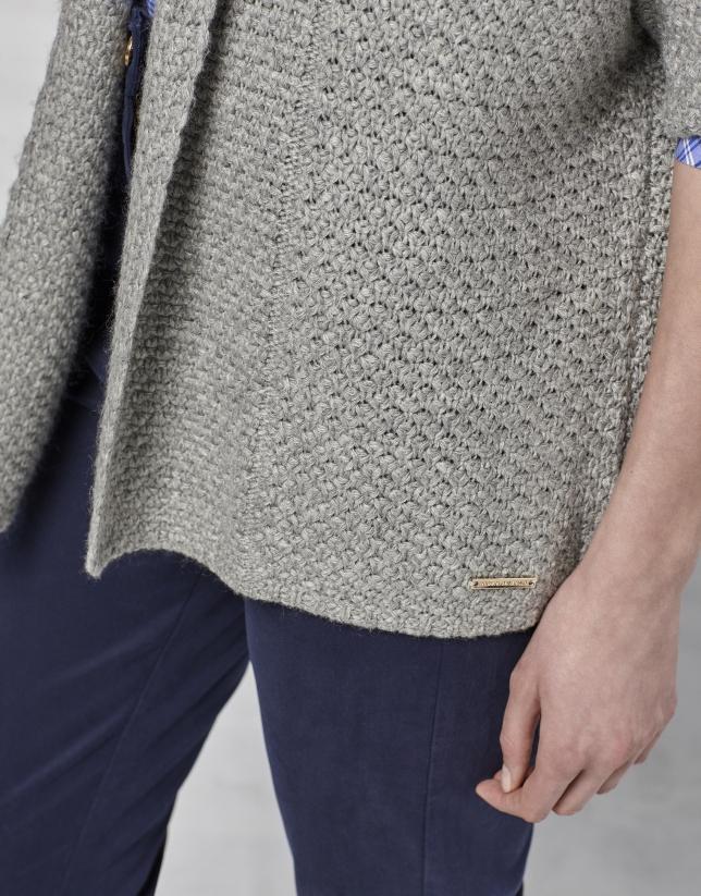 Veste en maille overs¡ze/surdimensionné gris