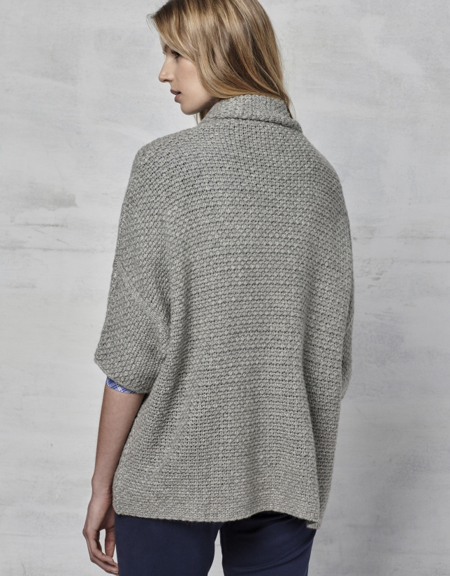 Chaqueta punto oversize gris