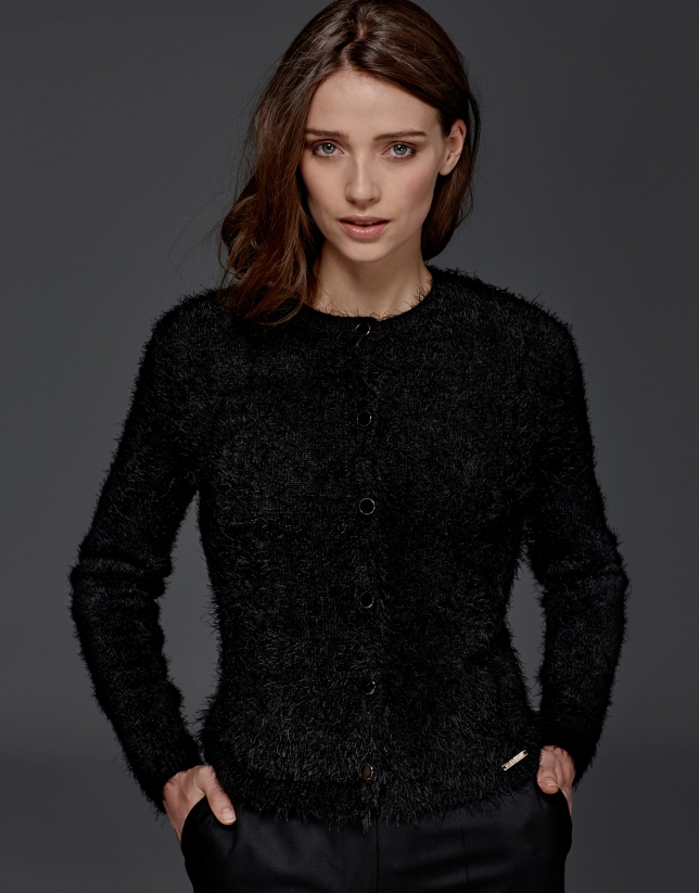 Gilet court couleur noir