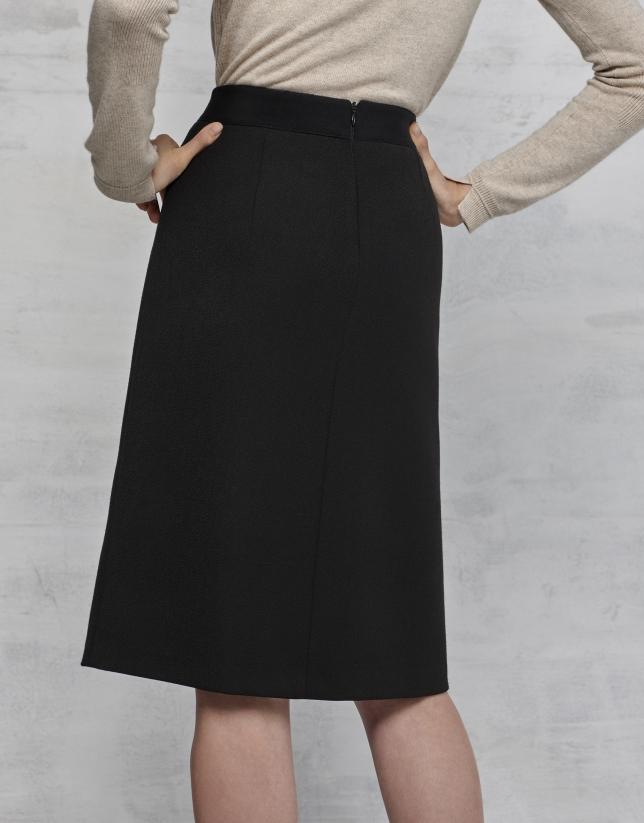 Falda trapecio negra