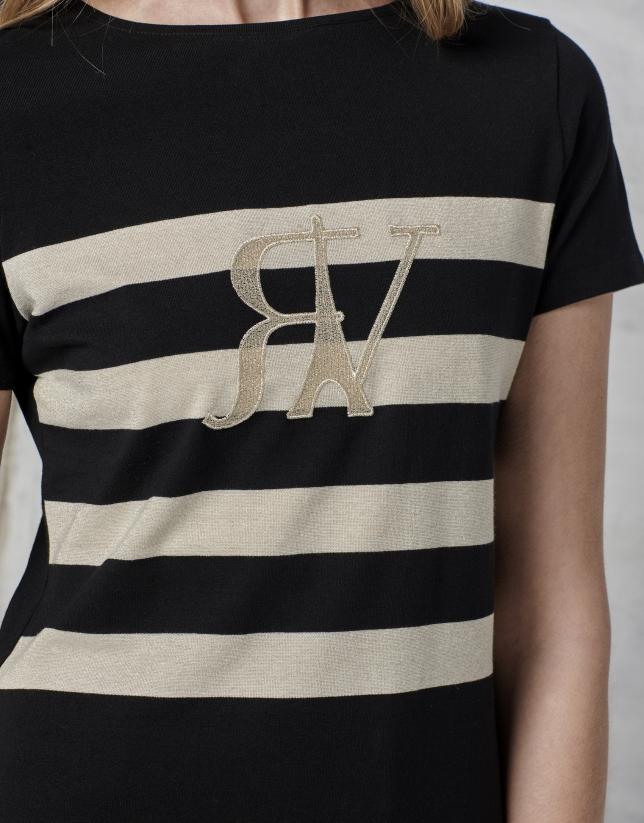 Gold striped t-shirt