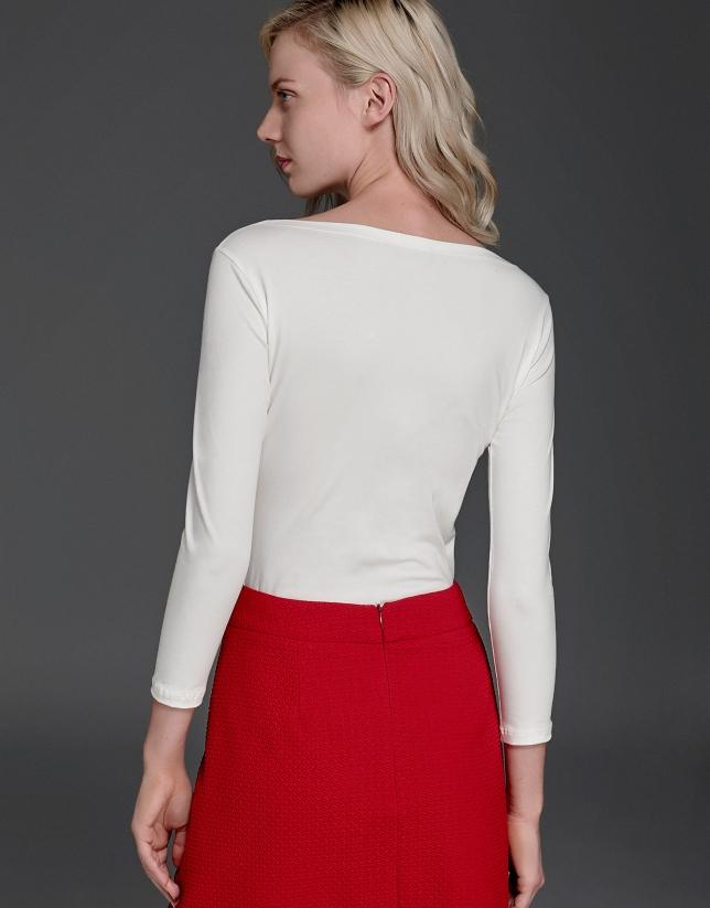 Camiseta huella blanca