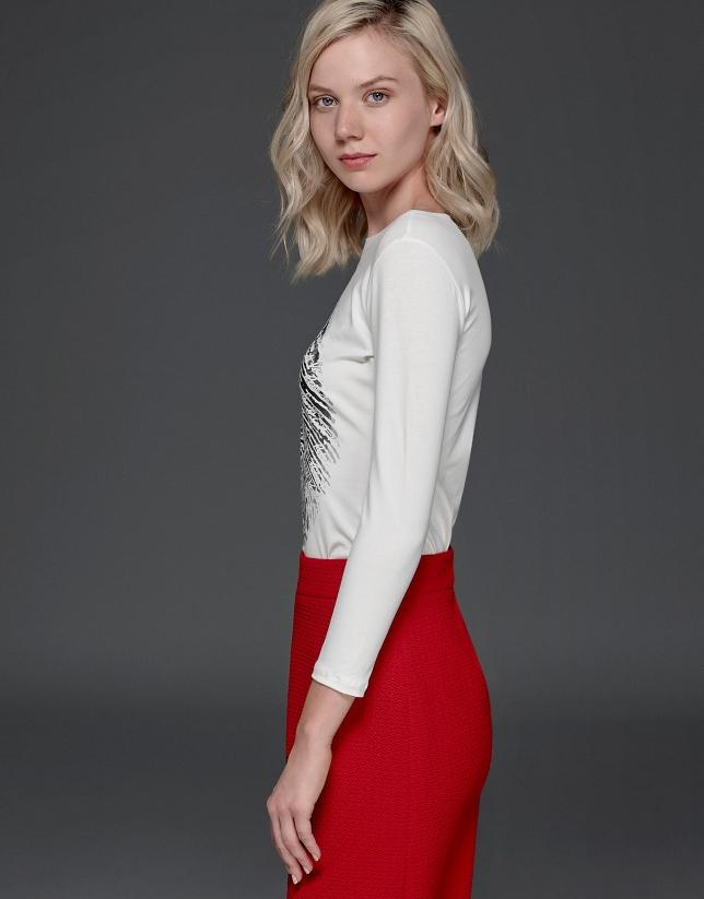 T-shirt blanc avec empreinte