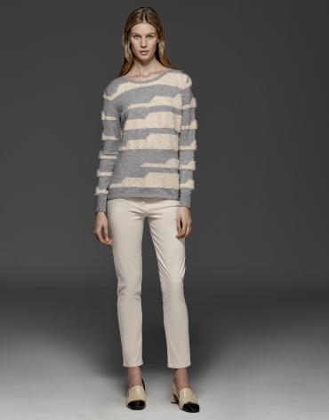 Jersey rayas gris/beige