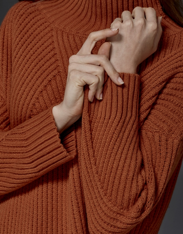Pumpkin oversize sweater
