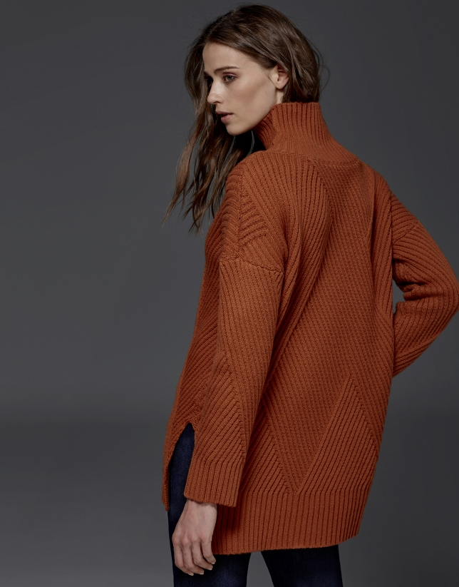 Jersey oversize color calabaza