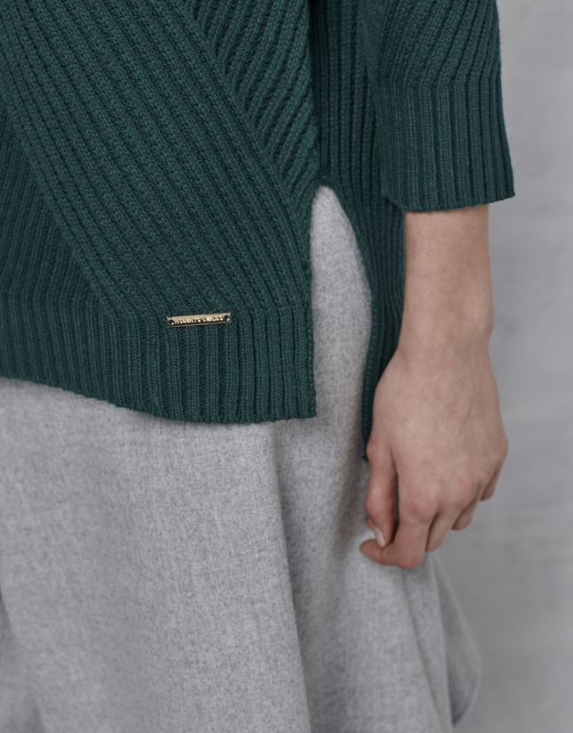 Emerald green oversize sweater