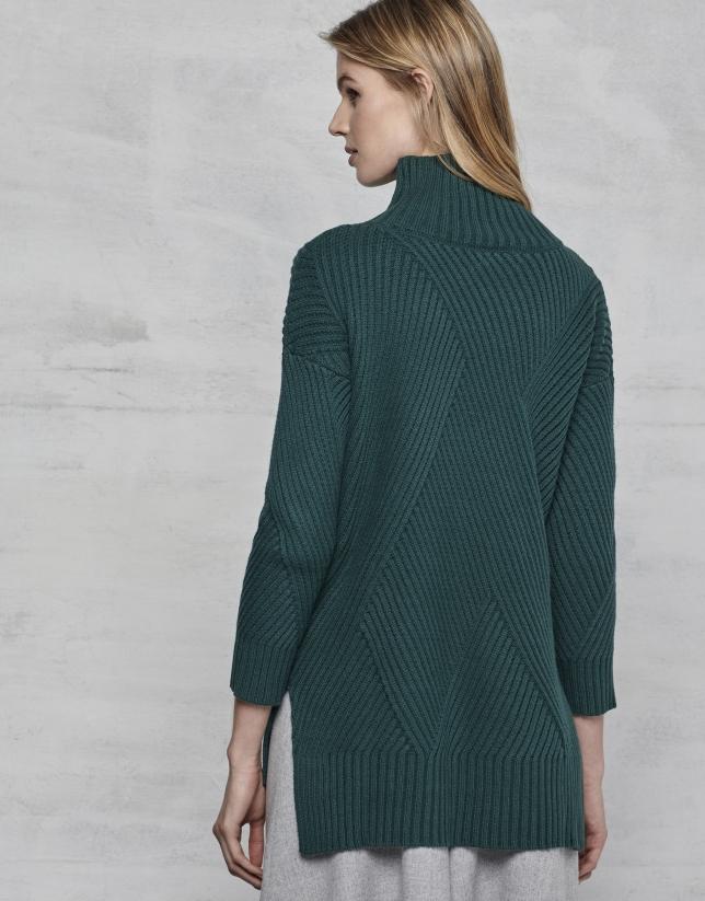 Pull oversize/surdimensionné vert émeraude
