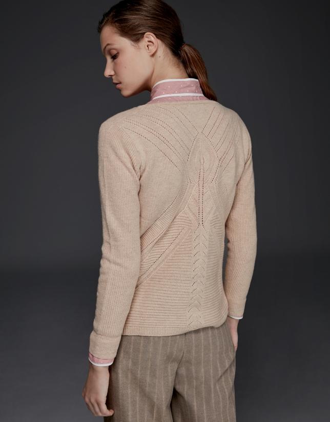 Pull en laine mérinos couleur ivoire