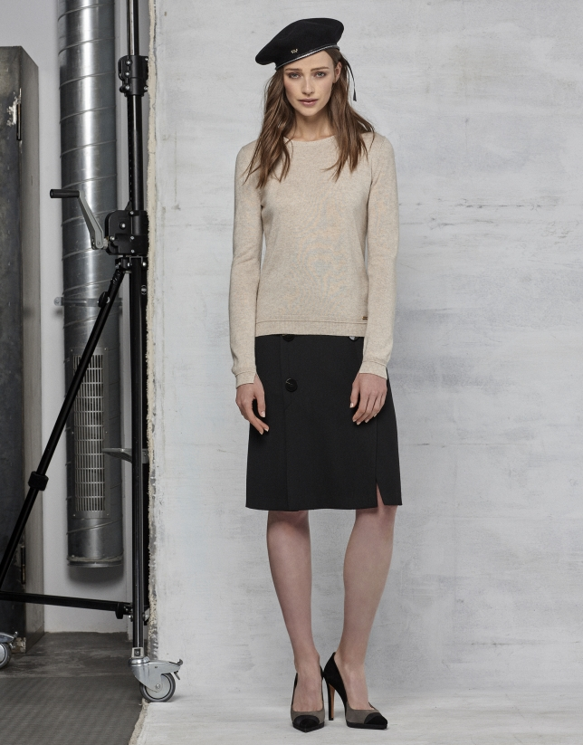 Ivory wool/cashmere sweater