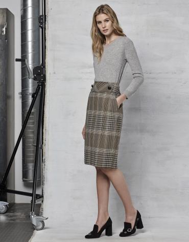 Jersey lana/cachemira gris plata