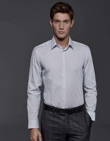Camisa de vestir raya azulón
