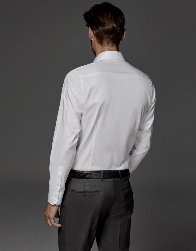 Camisa de vestir estructura blanca