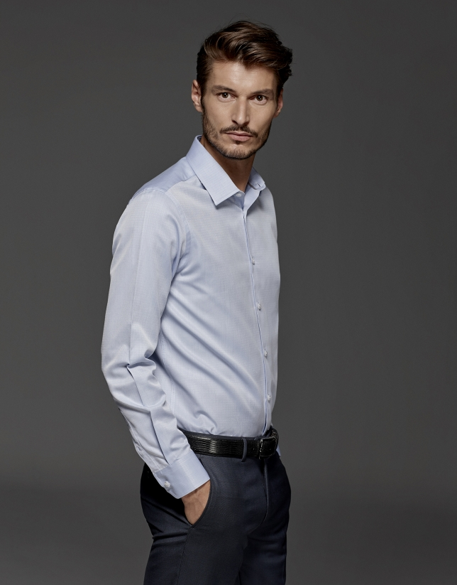 Light blue dress shirt with diamond design