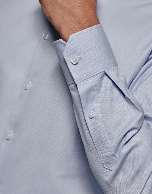 Chemise de costume en faux uni bleu clair