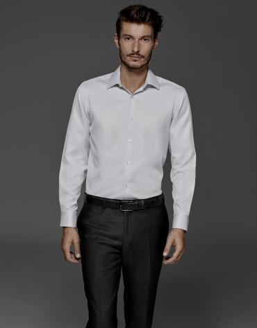 Camisa de vestir estructura gris
