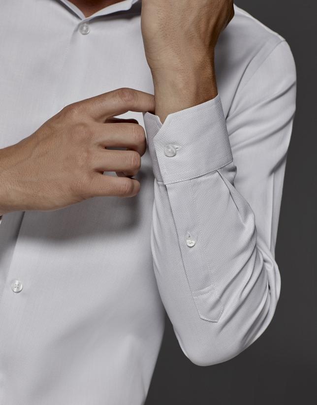 Gray dress shirt