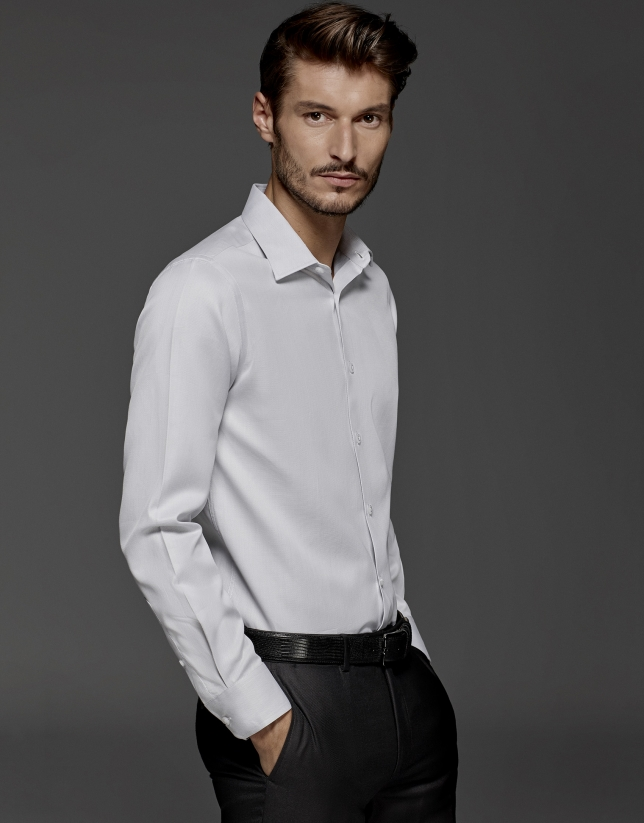 Gray dress shirt