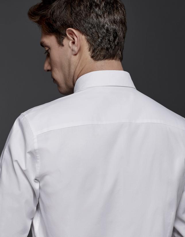 Camisa sport en oxford blanca