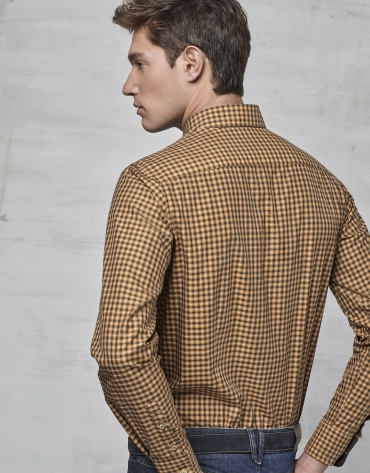 Ochre checked shirt