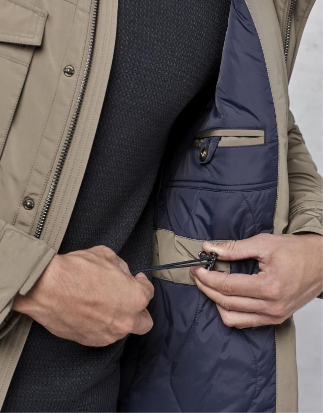Trois-quarts à 4 poches couleur vison