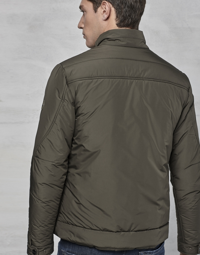 Khaki windbreaker without hood