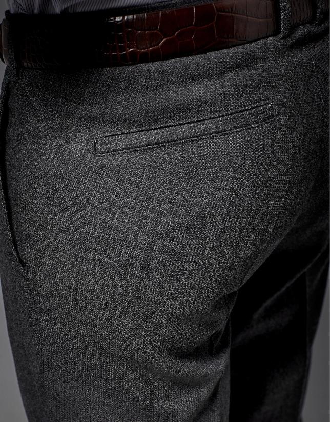 Pantalon de costume à pince gris