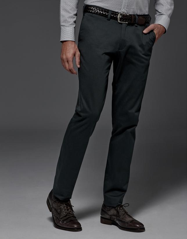 Pantalón chino algodón verde