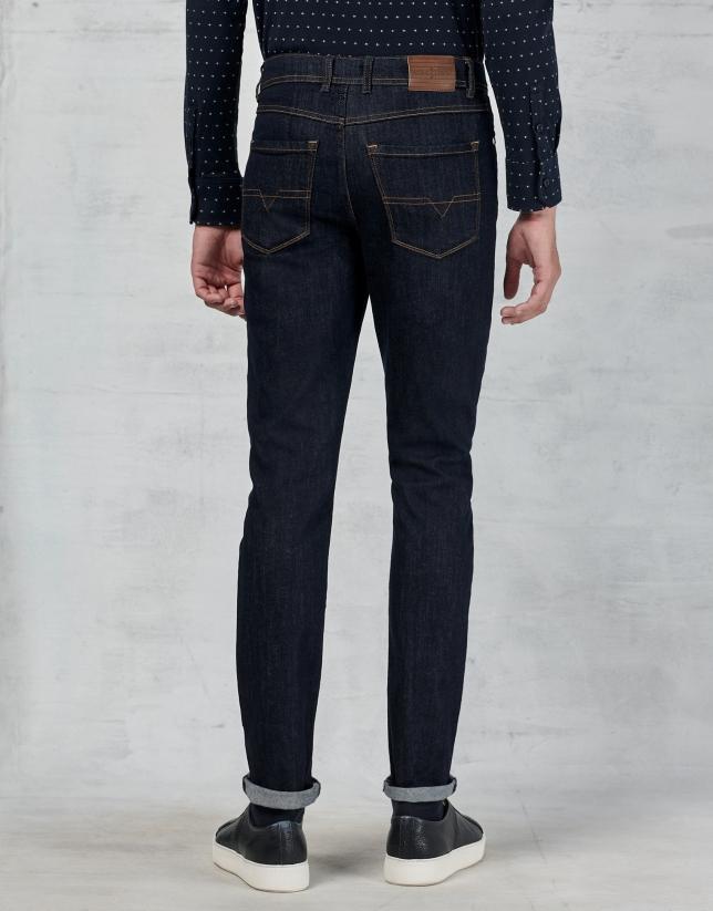Pantalón vaquero 5 bolsillos azul oscuro