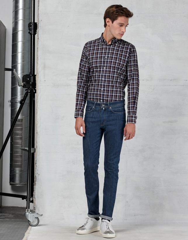 Pantalón vaquero 5 bolsillos azul claro con lavados