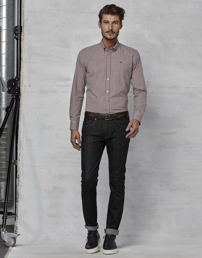 Pantalón vaquero 5 bolsillos negro