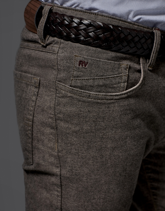 Mink-colored pants with 5 pockets