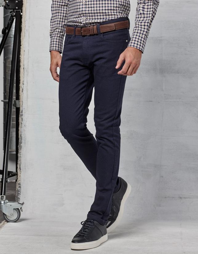 Pantalón 5 bolsillos color marino