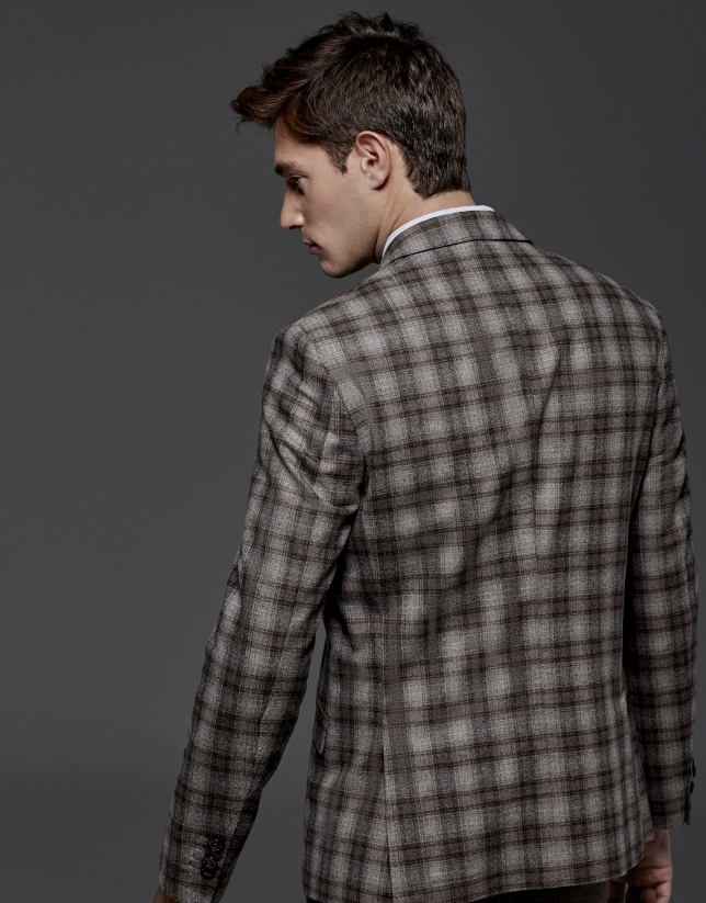 Mink checked sports jacket