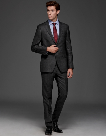 Gray slim fit suit
