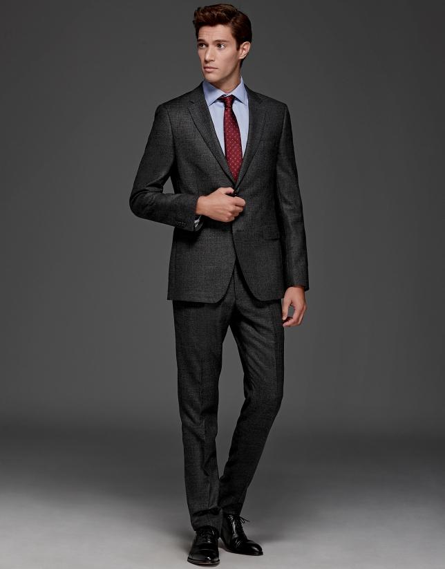 Gray slim fit suit