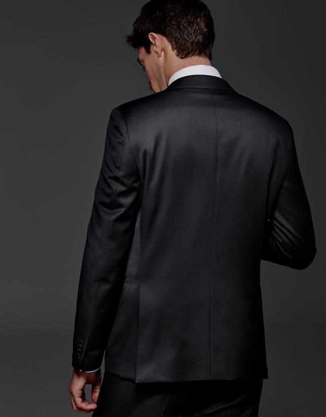 Costume coupe ajustée en laine noir