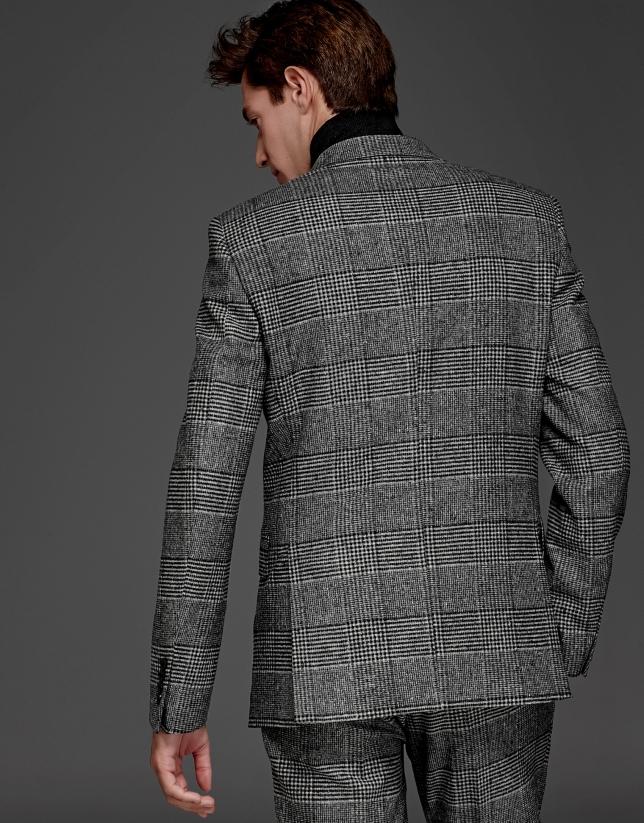 Costume croisée Prince de Galles gris