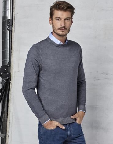 Jersey cuello caja tintado color gris