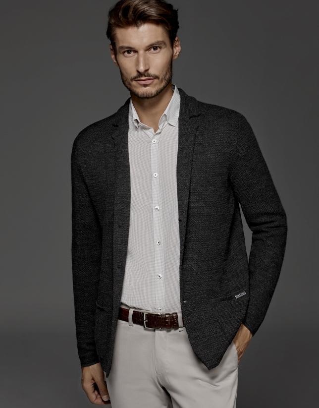 Gilet style veste gris