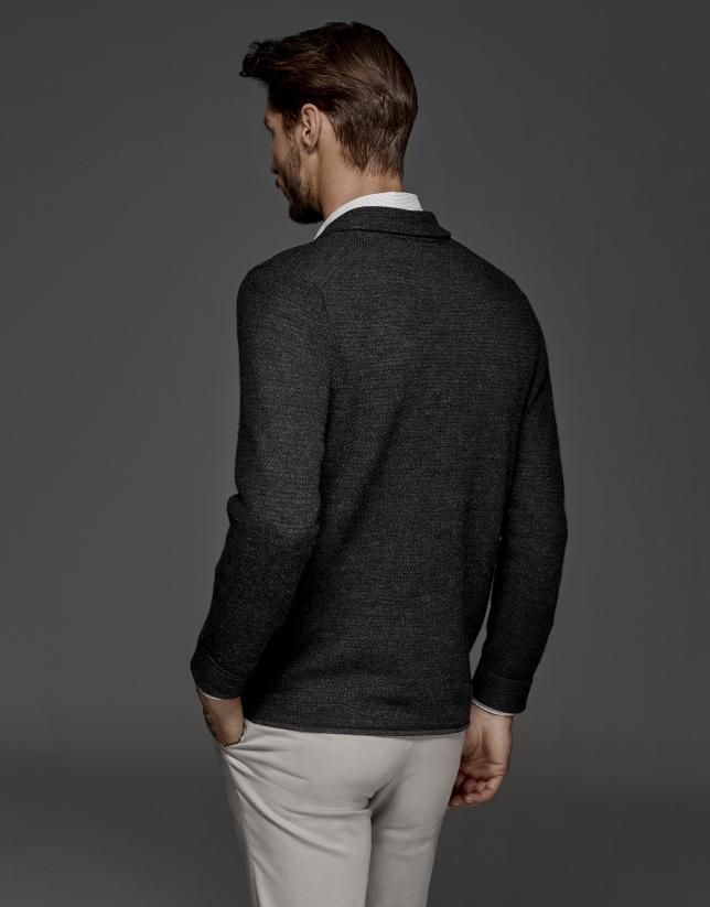 Chaqueta modelo americana gris